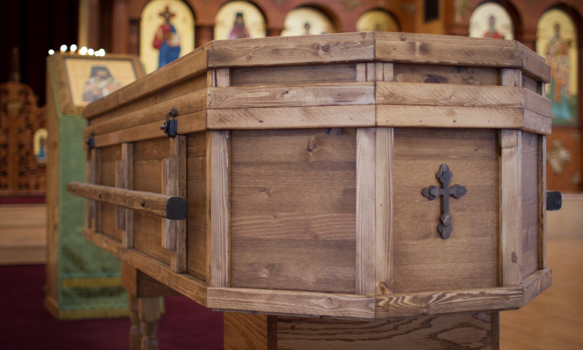 Alaskan Pine Casket – Holy Archangel
